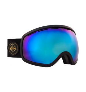 Gogle MAJESTY One 11 black matt/sapphire mirror
