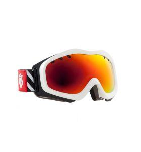 Gogle MAJESTY Patrol White Frame/Red Ruby Mirror Lens Tint