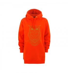 Bluza MAJESTY Owl Lady Tall Hoodie Orange