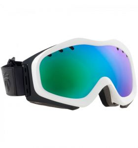 Gogle MAJESTY Patrol White Frame/Green Emerald Lens